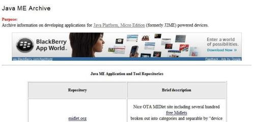 Java ME Archive on BillDay.com